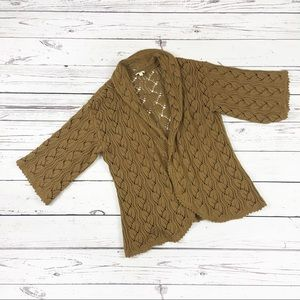 J Jill open front crochet cardigan size medium